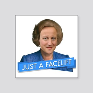 "thatcher cameron- just a fa Square Sticker 3"" x 3"""