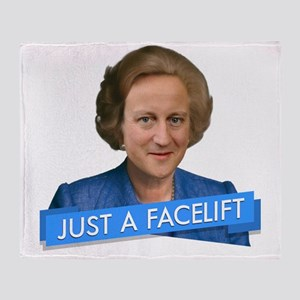 thatcher cameron- just a facelift Throw Blanket