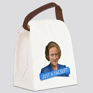 thatcher cameron- just a facelift Canvas Lunch Bag