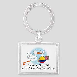 stork baby col 2 Landscape Keychain