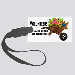 plant seeds kindness Large Luggage Tag