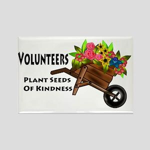plant seeds kindness Rectangle Magnet