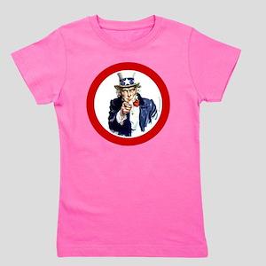 btn-patriot-want-u Girl's Tee