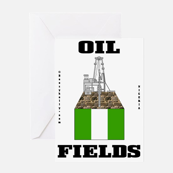 Nigeria Oil Fields 2a BC use A4 usin Greeting Card