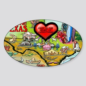 Arlington TEXAS Map 11x17 Sticker (Oval)