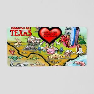 Arlington TEXAS Map 11x17 Aluminum License Plate