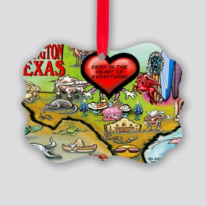 Arlington TEXAS Map 11x17 Picture Ornament