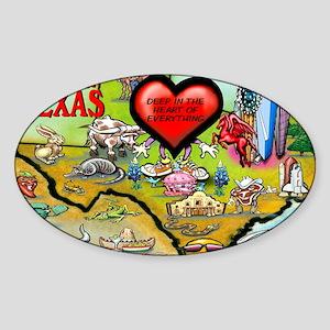 Arlington TEXAS Map Card Sticker (Oval)