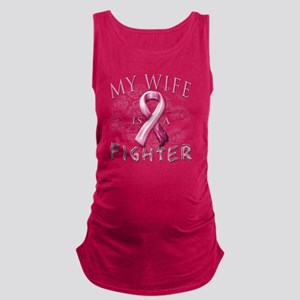 My Wife is a Fighter Pink Maternity Tank Top