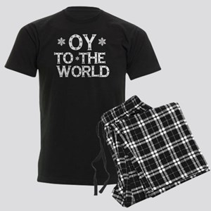 OY to the world Men's Dark Pajamas
