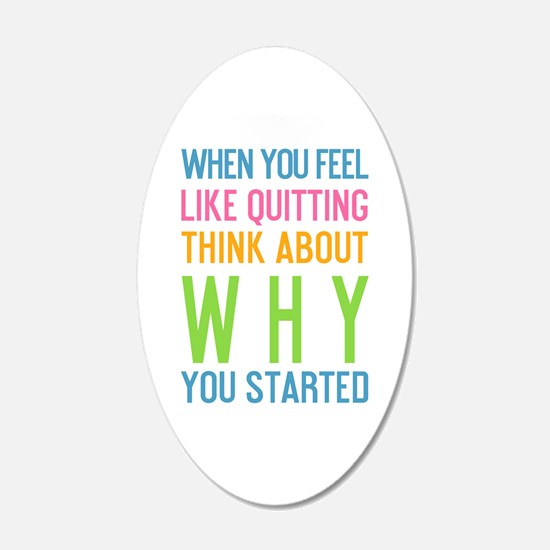 Cute Quitting Wall Decal