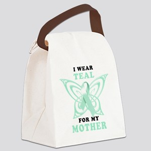 I Wear Teal for my Mother Canvas Lunch Bag
