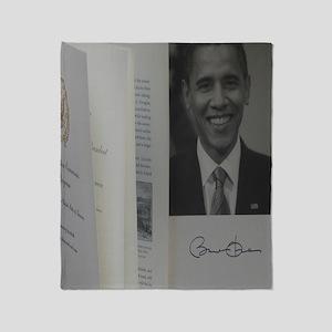 Barack Obama Official Program Throw Blanket