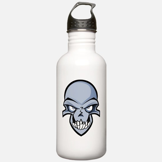 Dirge_Head_Evil_Smile Water Bottle