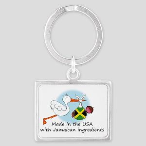 stork baby jam 2 Landscape Keychain