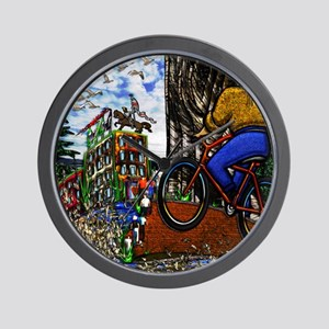 Nature Bike Ride to Work Small Poster P Wall Clock