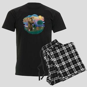 Poodle (Toy apricot) - St Fran Men's Dark Pajamas