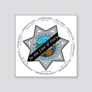 "Line of Duty Square Sticker 3"" x 3"""