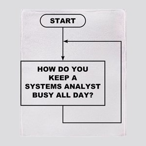 Systems Analyst flowchart Throw Blanket