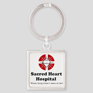Sacred heart slogan Square Keychain