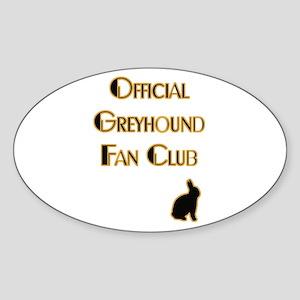 Greyhound Fanclub Oval Sticker
