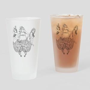 mermdgall2whitecopy Drinking Glass
