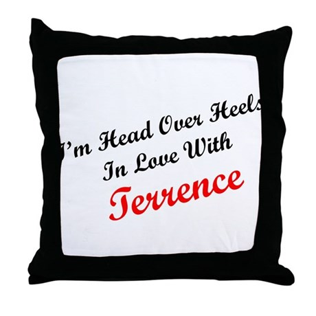 In Love with Terrence Throw Pillow