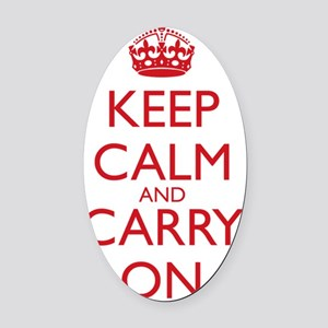 Keep Calm and Carry On Water Bottl Oval Car Magnet