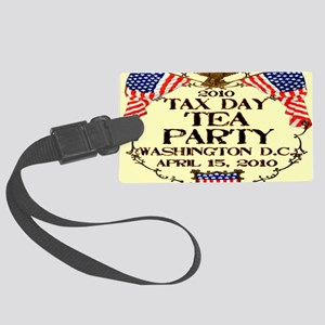 taxdayteaparty2010_banner Large Luggage Tag