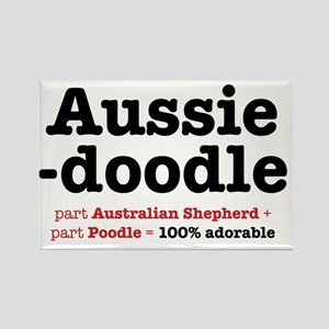 aussiedoodle-use Rectangle Magnet