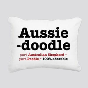 aussiedoodle-use Rectangular Canvas Pillow