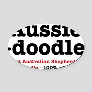 aussiedoodle-use Oval Car Magnet