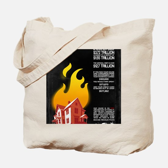 16x20 Our House is on Fire Tote Bag