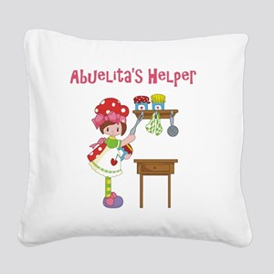 abuelitas helper cooking Square Canvas Pillow