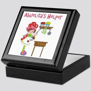 abuelitas helper cooking Keepsake Box
