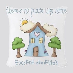 no place like grandmas Woven Throw Pillow