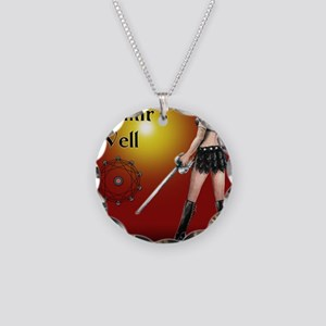 Mimirs Well small poster Necklace Circle Charm