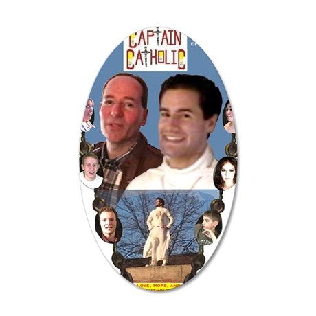 3-CAPTAIN CATHOLIC - EPISODE 35x21 Oval Wall Decal