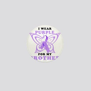 I Wear Purple for my Brother Mini Button