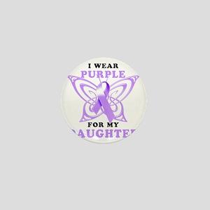 I Wear Purple for my Daughter Mini Button