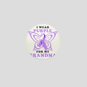 I Wear Purple for my Grandma Mini Button