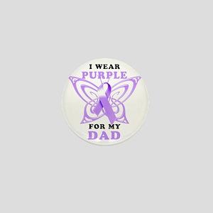 I Wear Purple for my Dad Mini Button