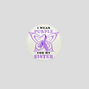I Wear Purple for my Sister Mini Button