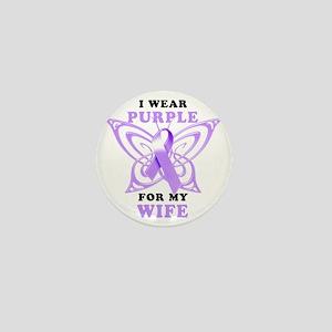 I Wear Purple for my Wife Mini Button