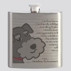 Miniature Schnauzer Salt  Pepper Flask