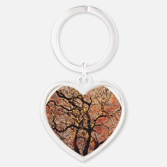 FireTree - circle Heart Keychain