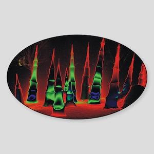 Neon redtips 10x14 Sticker (Oval)