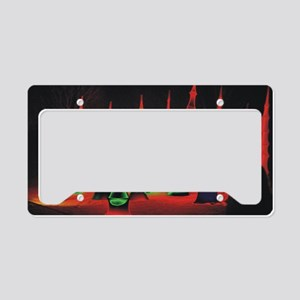 Neon redtips 10x14 License Plate Holder