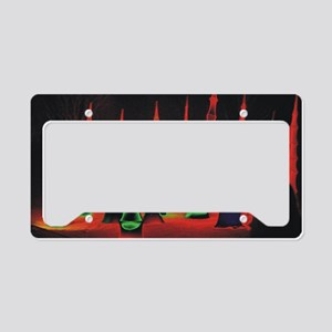 Neon redtips 9x12 License Plate Holder