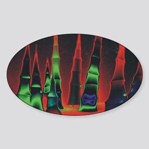 Neon redtips oval Sticker (Oval)
